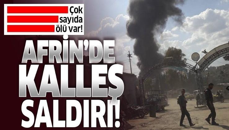 Son dakika: Afrin'de bomba yüklü tankerle terör saldırısı: En az 40 sivil hayatını kaybetti