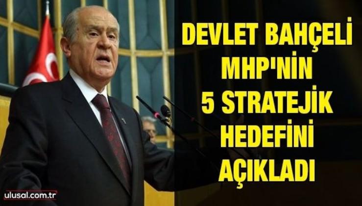 Devlet Bahçeli MHP'nin 5 stratejik hedefini açıkladı