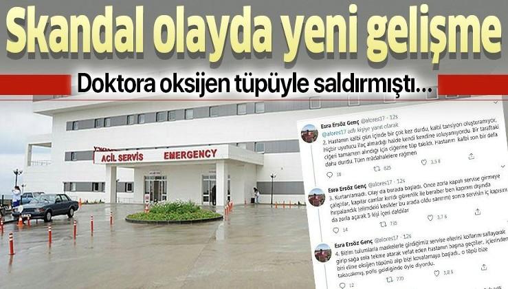 Trabzon'da doktor Esra Ersöz Genç'e oksijen tüpüyle saldırmıştı! O olayda flaş gelişme