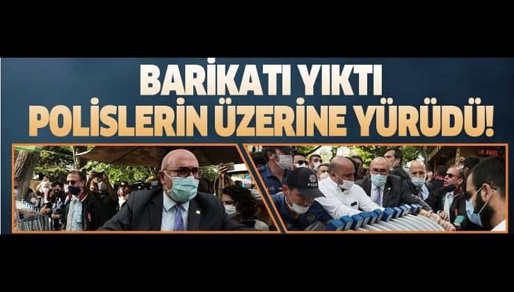 CHP ve HDP'li vekiller barikatları yıkıp polisin üzerine yürüdü!