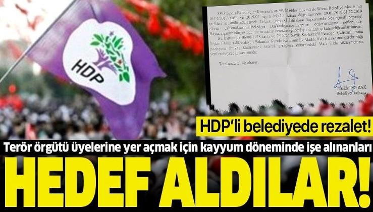 HDP'li Silvan Belediyesi 5 mühendisi işten kovdu! Örgüt üyelerine yer açmak için kayyum döneminde alınanları hedef aldılar.