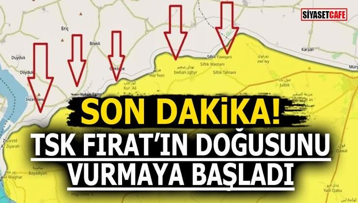 Son Dakika! TSK Fırat'ın doğusunu vurmaya başladı