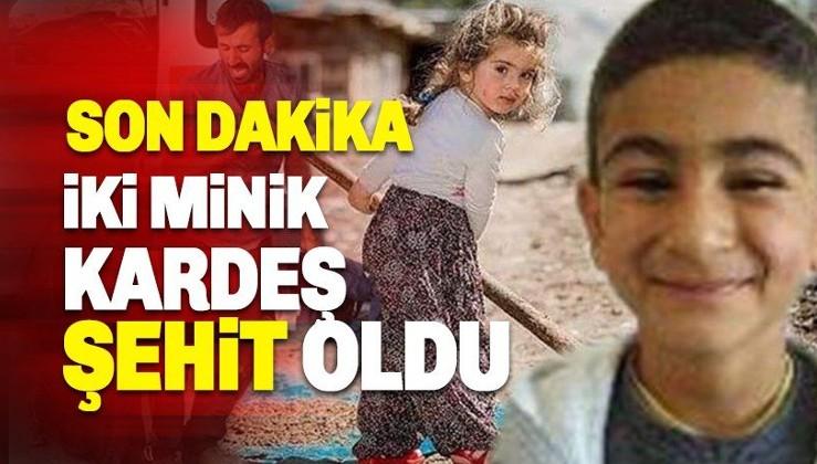 Alçak terör örgütü 8 ve 4 yaşındaki 2 çocuğu şehit etti!