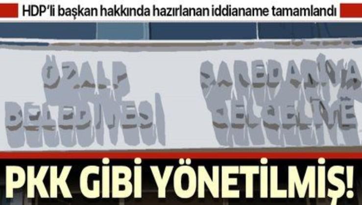 HDP'li Belediye PKK gibi yönetilmiş