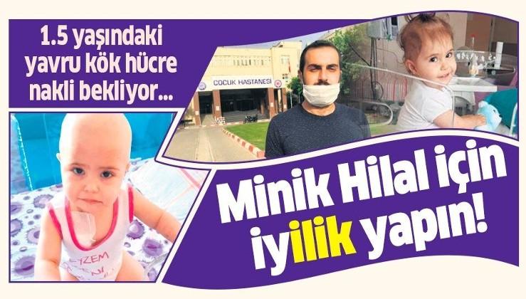 İzmir'de lösemi hastası olan minik Hilal ilik nakli bekliyor