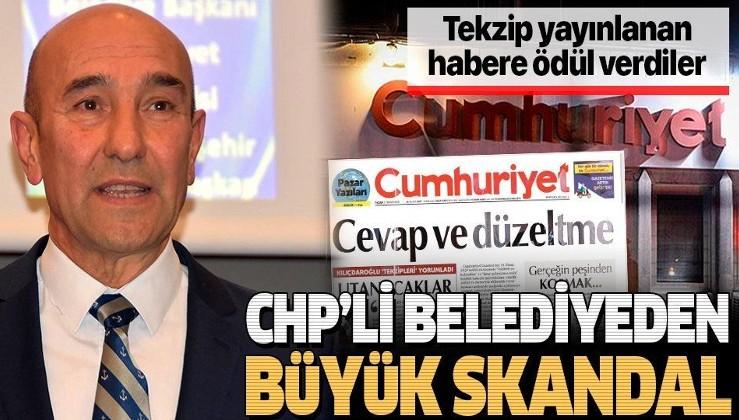 Cumhuriyet Gazetesi'nin tekzip yayınladığı habere ödül verdiler