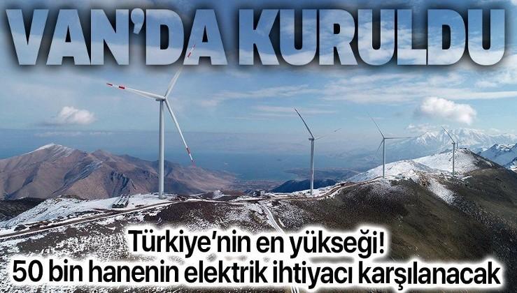 SON DAKİKA: Türkiye'nin en doğusuna en yüksek rakımlı RES kuruldu: 50 bin hanenin elektrik ihtiyacı karşılanacak
