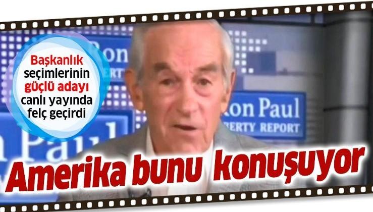 ABD eski başkan adayı Ron Paul canlı yayında felç geçirdi