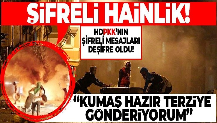 HDP-PKK'nın şifreli mesajları deşifre oldu: Kumaş hazır terziye gönderiyorum