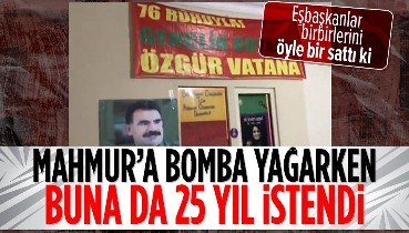 PKK elebaşı Abdullah Öcalan'ın posterlerinin asılmasıyla ilgili