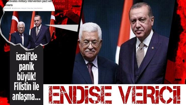 Türkiye ile Filistin anlaşma imzaladı İsrail paniğe kapıldı: Endişe verici