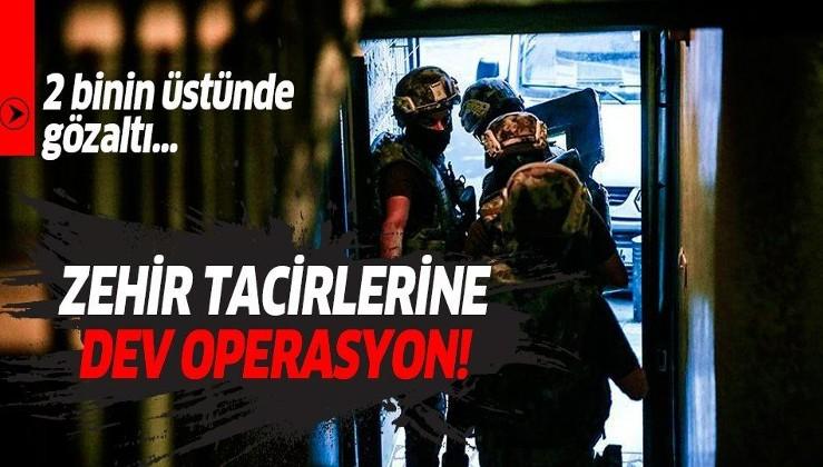 58 ilde uyuşturucu operasyonu! 2 bin 7 kişi gözaltına alındı