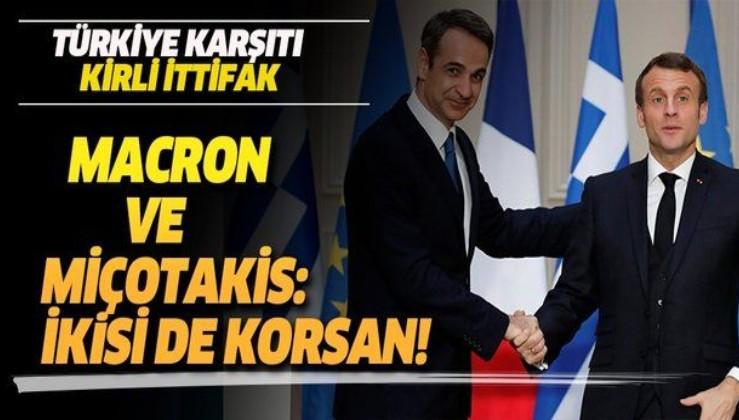 Fransa ve Yunanistan'dan kirli ittifak! Macron ve Miçotakis korsan hamlelerde bulunuyor
