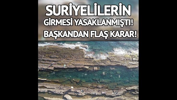 Suriyelilere plaj yasağı konusunda yeni gelişme!