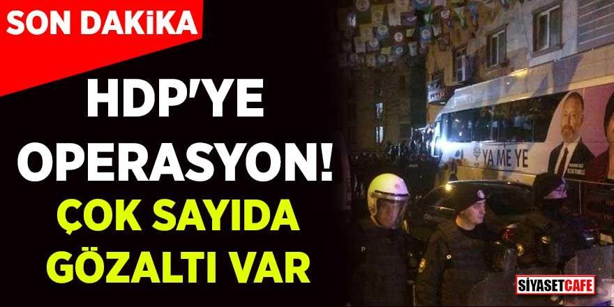 Diyarbakır'da HDP il binasına operasyon! 7 kişi gözaltına alındı