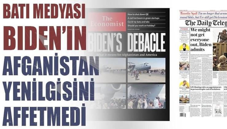 Batı medyası Biden'ın Afganistan yenilgisini affetmedi