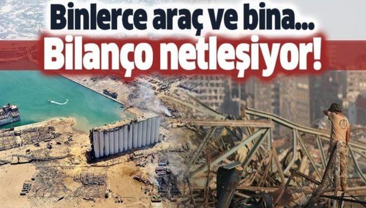 Beyrut patlamasının bilançosu netleşiyor! Binlerce bina ve ev...