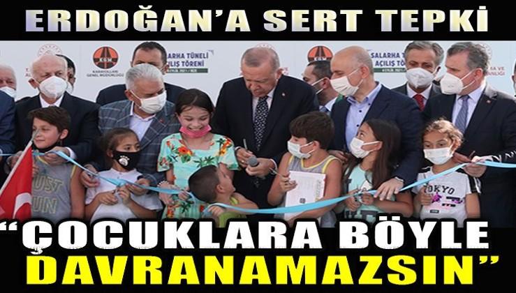 Erdoğan'a sert tepki