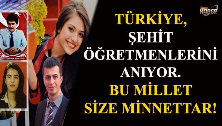 Türkiye, şehit öğretmenlerini anıyor