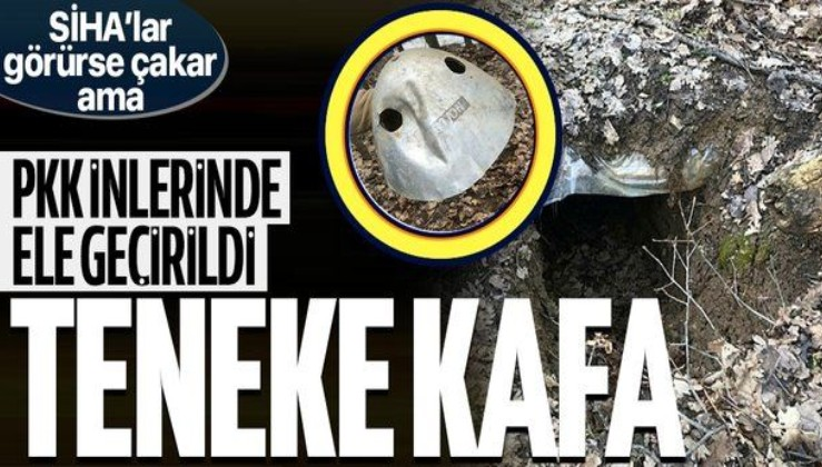 PKK'lı teröristlerin inlerinde, İHA ve SİHA'lara av olmamak için kullandıkları teneke şapkaları ele geçirildi