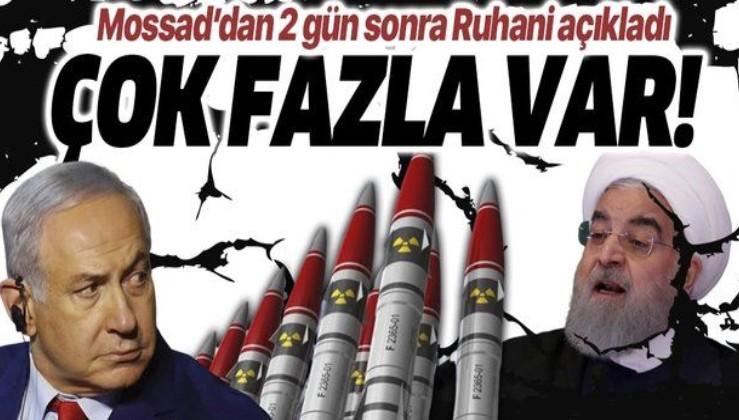 """Son dakika: Ruhani'den dikkat çeken """"nükleer"""" çıkışı! Mossad açıklamasından 2 gün sonra...."""