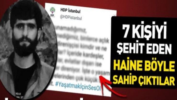 HDP İstanbul teşkilatından müebbet yiyen terörist Erdal Polat'a skandal destek.