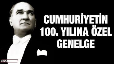 Atatürk vurgulu Cumhuriyet Genelgesi