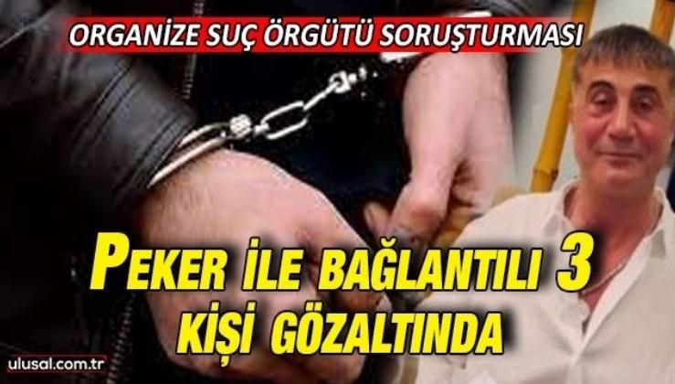Suç örgütü lideri Sedat Peker ile bağlantılı 3 kişi gözaltında