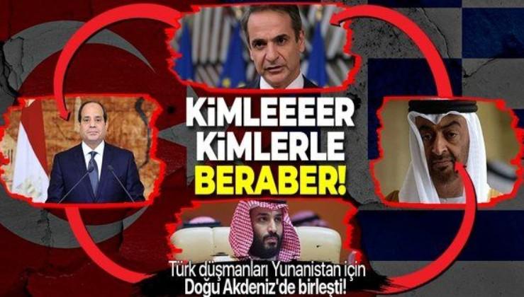 Türk düşmanları Miçotakis için Doğu Akdeniz'de birleşti! Yunanistan'da Suudi Arabistan, Birleşik Arap Emirlikleri, Mısır, Bahreyn...
