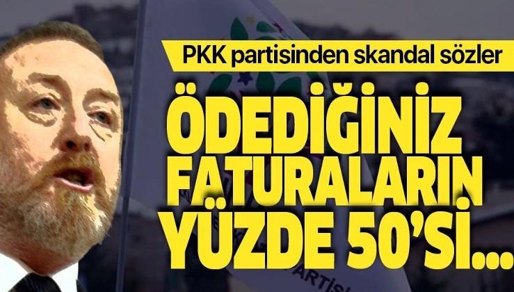 """HDPKK'lı Sezai Temel'den skandal sözler: """"Ödediğiniz elektrik faturalarının yarısı Türk silahlarına gidiyor""""."""