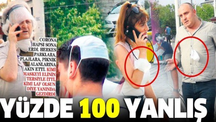 Kovid-19 kısıtlamaları sonrası vatandaşlar 'maske takın' uyarısına aldırmadı!