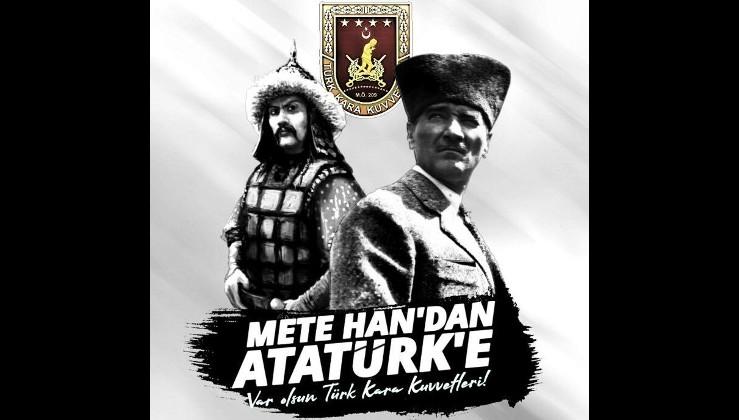 Metehan'dan Gazi Mustafa Kemal Atatürk'e büyük komutanların izinde! Türk Kara Kuvvetleri Komutanlığının 2229'uncu kuruluş yıl dönümü kutlu olsun