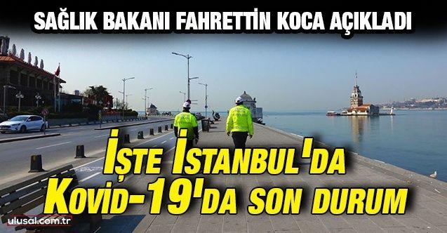 Sağlık Bakanı Fahrettin Koca açıkladı: Kovid-19'la mücadelede İstanbul'da son durum