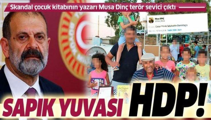 Son dakika: Gül ve Düşün isimli skandal masal kitabının yazarı Musa Dinç HDP'li çıktı!