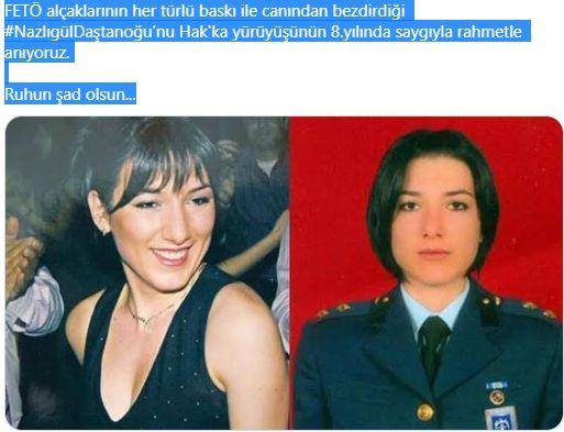 FETÖ kumpaslarıyla canından olan Üsteğmen Nazlıgül Daştanoğlu