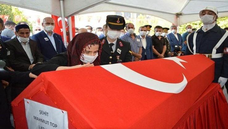 Şehit Yüzbaşı Mahmut Top memleketi Samsun'da son yolculuğuna uğurlandı