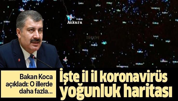 Sağlık Bakanı Fahrettin Koca duyurdu: İşte il il Türkiye'nin koronavirüs yoğunluk haritası