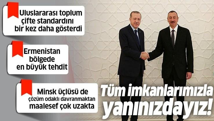Erdoğan'dan Ermenistan'a sert tepki: Uluslararası toplum çifte standardını bir kez daha gösterdi