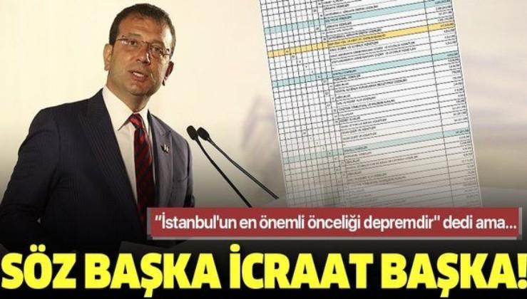 """""""İstanbul'un en önemli önceliği depremdir"""" diyen İBB Başkanı Ekrem İmamoğlu deprem bütçesini yüzde 65 düşürdü!"""
