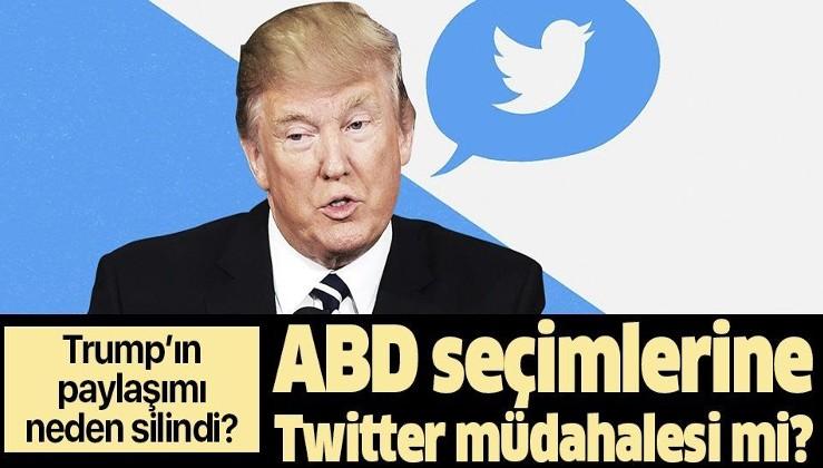 ABD seçimlerine Twitter müdahalesi mi? Trump'ın paylaşımları neden sansürlendi?