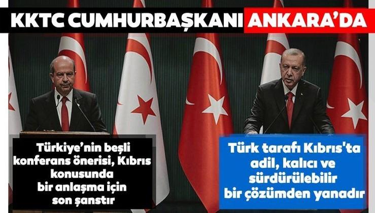 Son dakika: Cumhurbaşkanı Erdoğan ile KKTC Cumhurbaşkanı Tatar'dan önemli açıklamalar