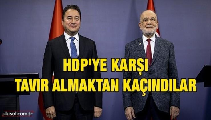 HDP'ye karşı tavır almaktan kaçındılar