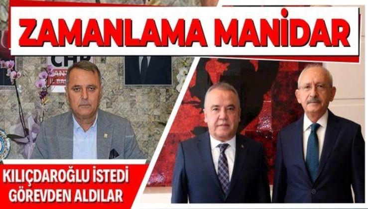 Kılıçdaroğlu ve Böcek görüşmesi sonrası dikkat çeken karar! CHP Antalya İl Başkanı Nusret Bayar görevden alındı!