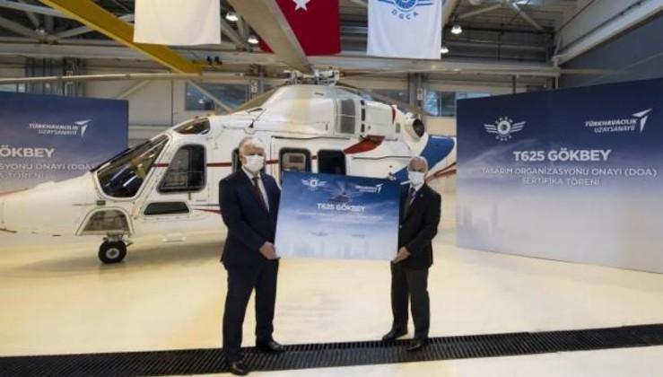 Milli helikopter 'GÖKBEY'e tasarım organizasyonu onayı