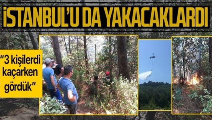 """Son dakika: İstanbul Beykoz'da ormanlık alanda yangın: """"3 kişi geldi, kaçarken gördük"""""""