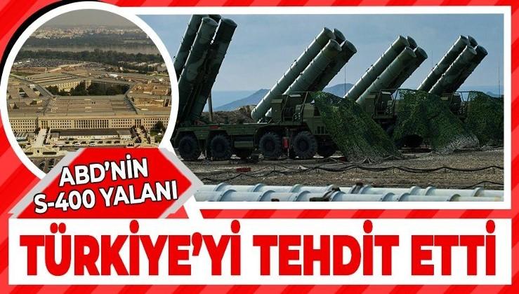 ABD Türkiye'yi tehdit etti: Bir kez daha S-400'ü muhafaza etmemesi konusunda uyarıyoruz