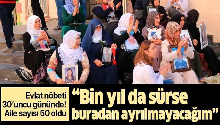 """Diyarbakır annelerinin evlat nöbeti 30'uncu gününde! """"Bin yıl da sürse ben buradan ayrılmayacağım""""."""