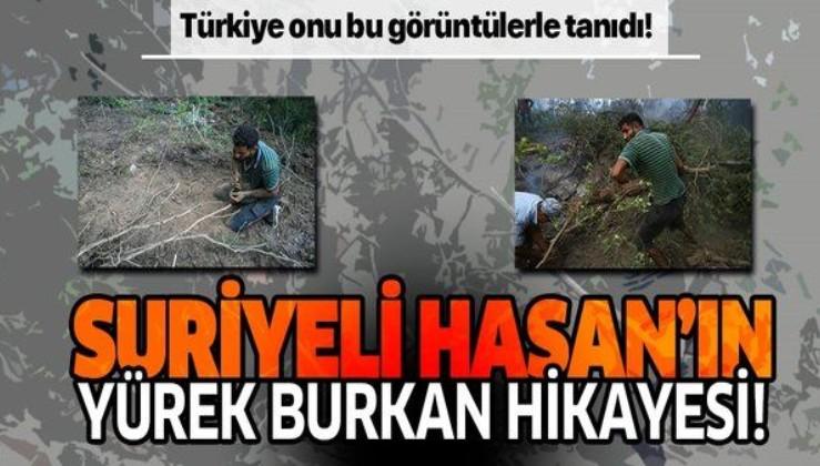 İzmir'deki orman yangını için avuçlarıyla toprak toplayan Suriyeli Hasan gündeme damga vurmuştu! İşte yürek burkan hikayesi!
