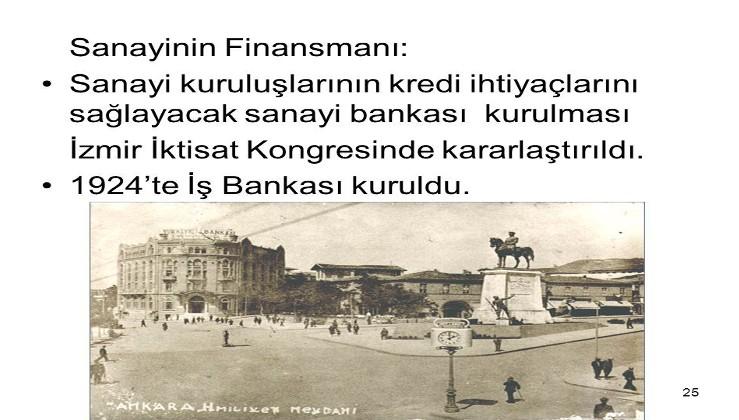 İzmir İktisat Kongresi ve Türkiye İş Bankasının kuruluşu…