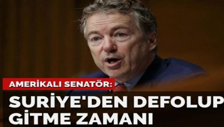 ABD'li senatör: Suriye'den defolup gitmenin zamanı geldi